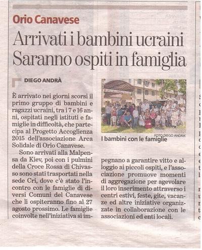 La Stampa 7 giugno 2015