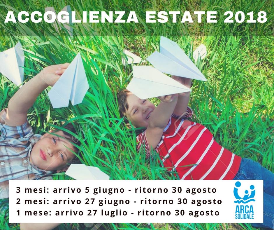 Progetti Accoglienza Estate 2018: ledate